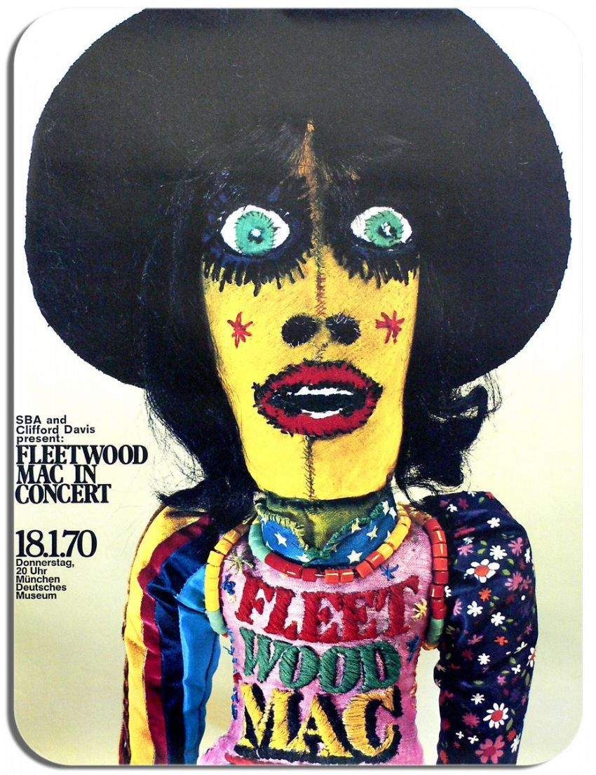 Fleetwood Mac 1970 Concert Gig Poster Mouse Mat. High Quality Mouse Pad